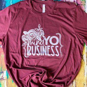 Maroon Mind Yo Business Graphic Tee XL
